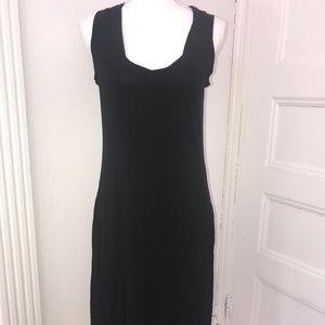 James Perse Sleeveless Black Midi Dress